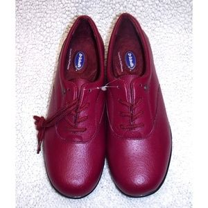 Dr Scholls red leather lace up shoes NWOT